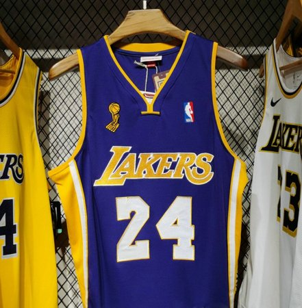 Camisa Los Angeles Lakers - 8  kobe Bryant - mitchell and ness - finais 2008 / 09