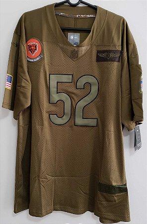 Camisa Chicago Bears - 52 Khalil Mack - Salute to Service 2020
