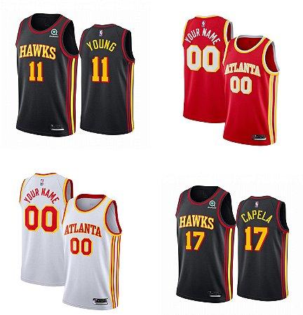Camisa Atlanta Hawks - 11 Trae Young - com personalização de nome e número
