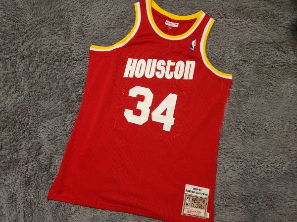 Camisa Houston Rockets - Mitchell & Ness - 34 Hakeem Olajuwon