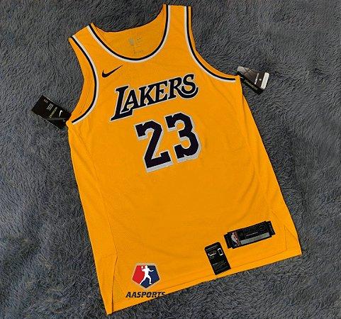Camisa Los Angeles Lakers - 23 LeBron James - 3 Anthony Davis - 24 Kobe Bryant - Montrezl Harrell - Dennis Schroder - Authentic Jersey - escolha qualquer jogador do time