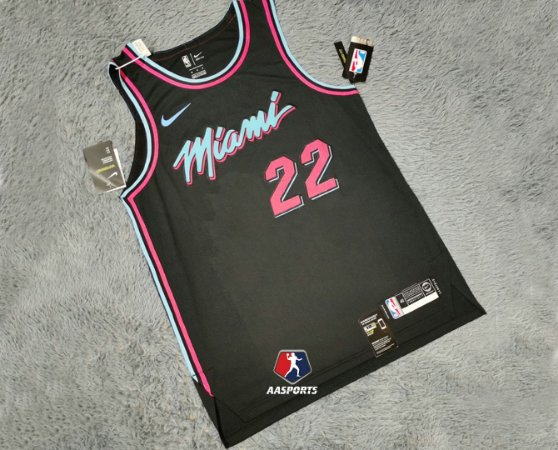 Camisa - Miami Heat - City Edition 2018 - Authentic Jersey - 3 Dwyane Wade - 22 Jimmy Butler - 14 Tyler Herro - escolha qualquer jogador do time