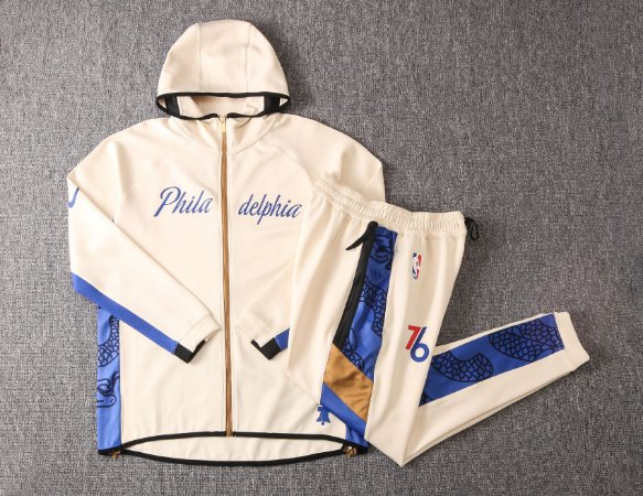 Agasalho casaco com Capuz NBA Philadelphia 76ers BLACK EDITION Showtime Therma Flex