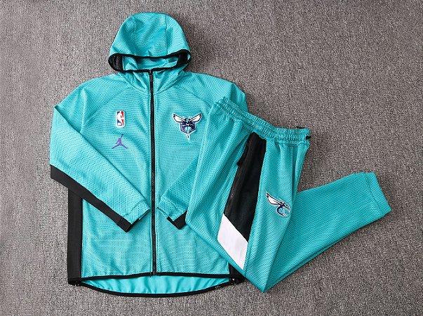 Agasalho casaco com Capuz NBA Atlanta Hawks BLACK EDITION Showtime Therma Flex