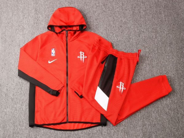 Agasalho casaco com Capuz NBA Houston Rockets BLACK EDITION Showtime Therma Flex
