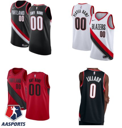 Camisa Portland Trail Blazers - 0 Damian Lillard - Carmelo Anthony - escolha qualquer jogador do time
