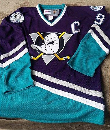 Camisa Anaheim Mighty Ducks - 8 Teemu Selanne - 9 Paul Kariya