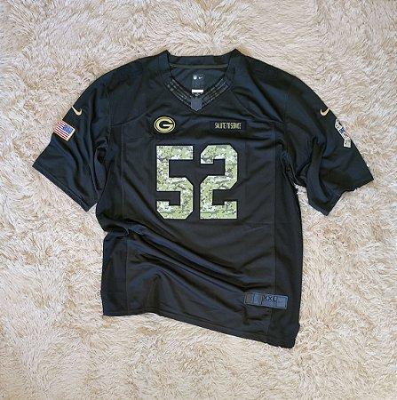 Camisa Green Bay Packers - 52 Clay Matthews - Pronta Entrega