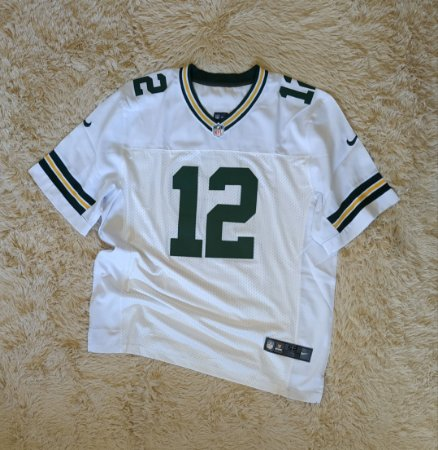 Camisa Green Bay Packers - 12 Aaron Rodgers - Pronta Entrega - Modelo ELITE