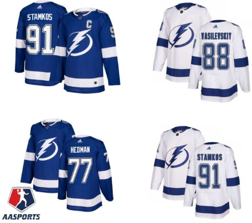 Camisa Tampa Bay Lightning  - 77 Victor Hedman - 91 Steve Stamkos