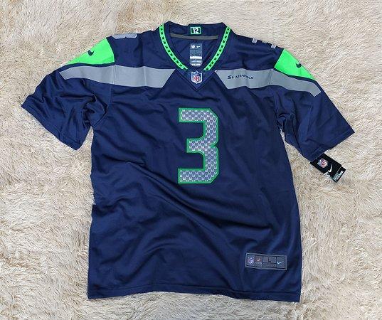 Camisa Seattle Seahawks - 3 Russell Wilson - Pronta Entrega