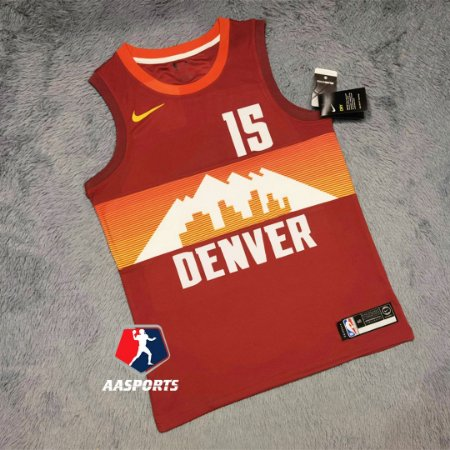 Camisa Denver Nuggets - 15 Nikola Jokic - 55 Dikembe Mutombo - 27 Jamal Murray -  escolha qualquer jogador do time