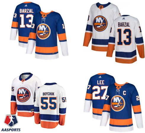 Camisa New York Islanders - 13 Mathew Barzal - 29 Brock Nelson - 27 Anders Lee
