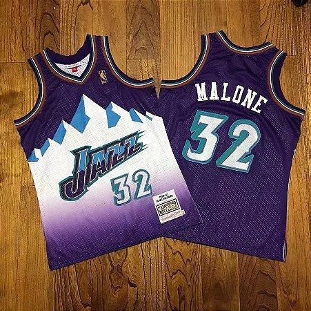 Camisa Utah Jazz - 12 John Stockton - 32 Karl Malone - Mitchell and Ness