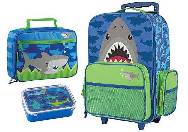 98c61542f Mochila de rodinha E Lancheira Tubarão - Stephen Joseph - Baby ...