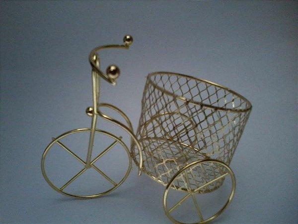 Lembrancinha de Casamento Bicicleta dourada
