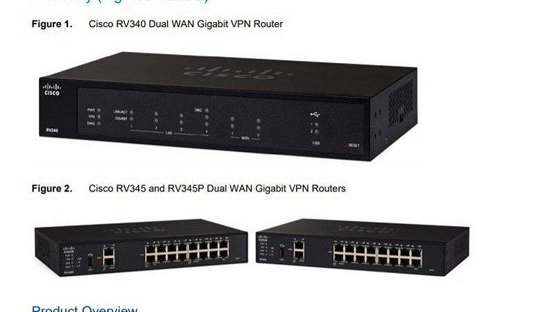 ROTEADOR DIGITAL MODULAR COM FIO- Cisco RV340 Dual WAN Gigabit VPN Router - 4-port switch (integrated)