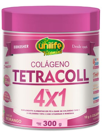 COLÁGENO TETRACOL 4X1 300GR UNILIFE