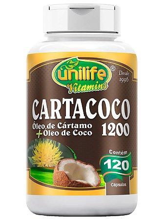 CARTACOCO - ÓLEO DE CÁRTAMO + ÓLEO DE COCO 1200 MG - 120 CÁPSULAS UNILIFE