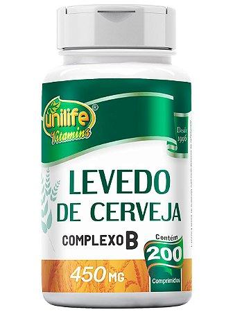LEVEDO DE CERVEJA COM COMPLEXO B 200 COMPRIMIDOS UNILIFE