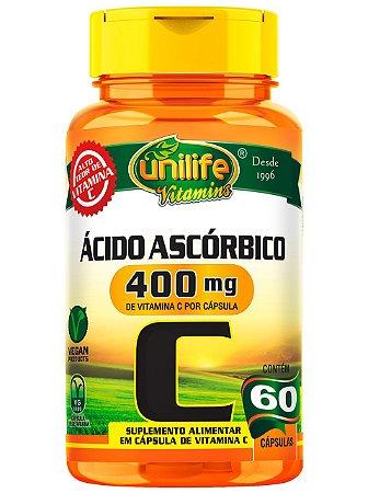 VITAMINA C ÁCIDO ASCÓRBICO 30 COMPRIMIDOS 1000MG UNILIFE