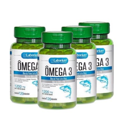 Ômega 3 - 1200mg  - kit com 480 cápsulas Laborium