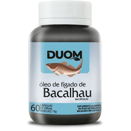 OLEO DE FIGADO DE BACALHAU 60 CÁPSULAS 250MG DUOM