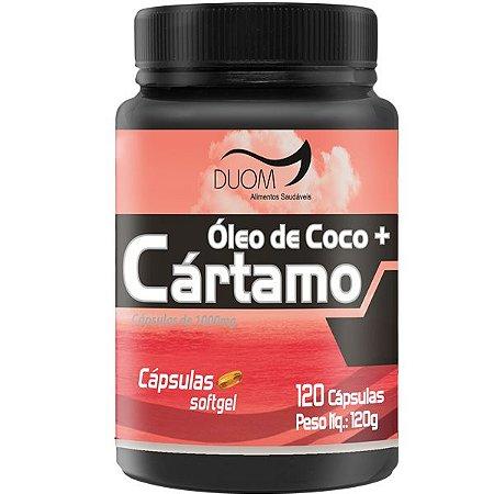 OLEO DE COCO + CARTAMO 1000mg 120 CÁPSULAS DUOM