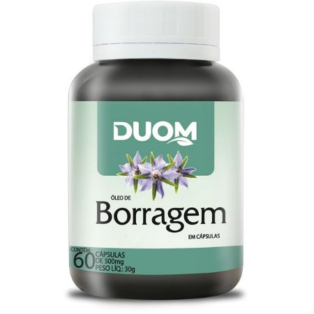 OLEO DE BORRAGEM 500mg 60 CÁPSULAS DUOM