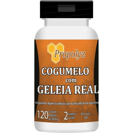 COGUMELO COM GELEIA REAL 120 TABLETES 300mg PROPOLYS/DUOM