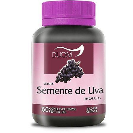 OLEO DE SEMENTE DE UVA 1000mg 60 CÁPSULAS DUOM