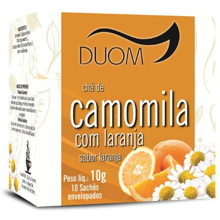 CHA CAMOMILA COM LARANJA 10 SACHES DUOM