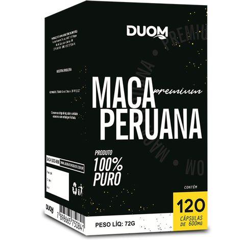 MACA PERUANA PREMIUM 120 CÁPSULAS 600MG DUOM