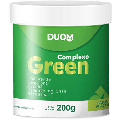 COMPLEXO GREEN SABOR ABACAXI 200G DUOM