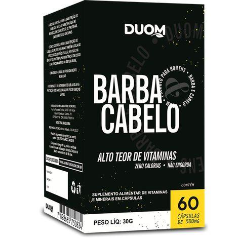 BARBA CABELO 60 500MG CÁPSULAS DUOM