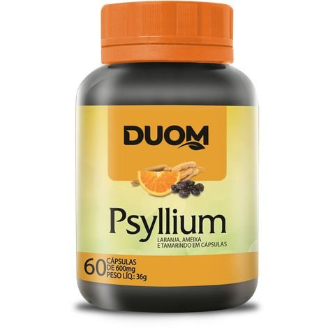 PSYLLIUM (LARANJA+AMEIXA+TAMARINDO) 60 CÁPSULAS 500MG DUOM