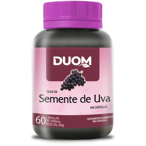 ÓLEO DE SEMENTE DE UVA 1000MG 60 CÁPSULAS DUOM