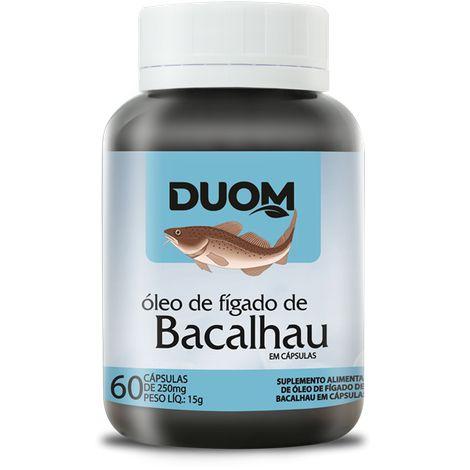 ÓLEO DE FÍGADO DE BACALHAU 60 CÁPSULAS 250MG DUOM