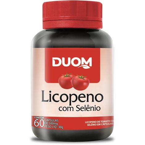 LICOPENO C/ SELÊNIO 60 CÁPSULAS 500MG DUOM