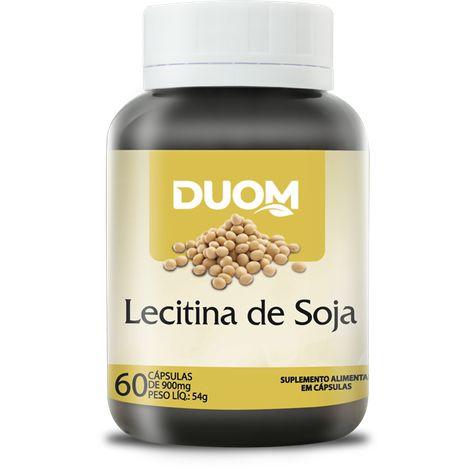 LECITINA DE SOJA 1000MG 60 CÁPSULAS DUOM