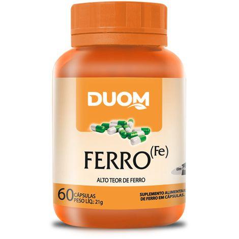"""FERRO """"FE"""" 60 CÁPSULAS DUOM"""