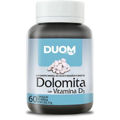 DOLOMITA COM VITAMINA D 60 CÁPSULAS 850MG DUOM
