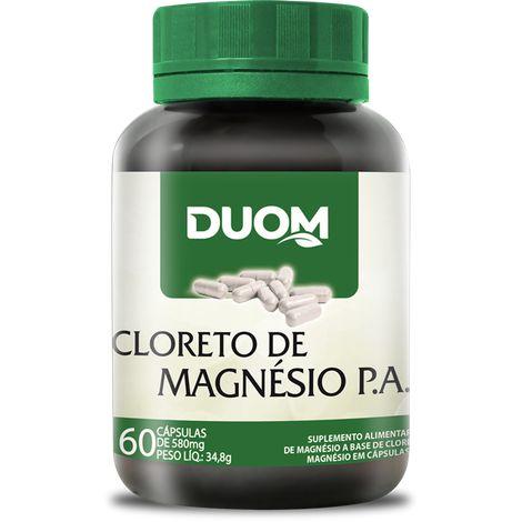 CLORETO DE MAGNÉSIO PA 60 CÁPSULAS 500MG DUOM