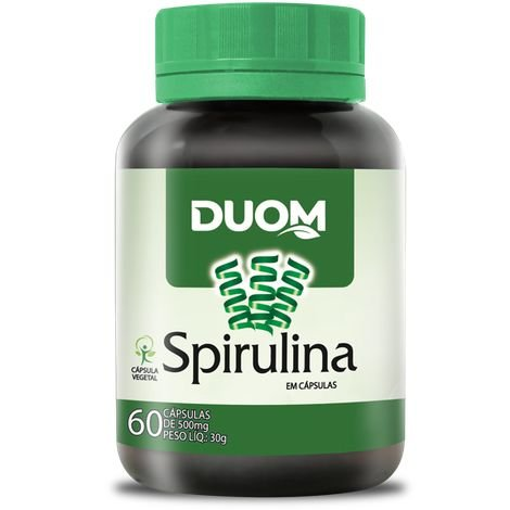SPIRULINA 500MG 60 CÁPSULAS DUOM