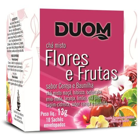 CHÁ MISTO FLORES E FRUTAS 10 SACHÊS DUOM