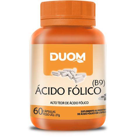 ÁCIDO FÓLICO VITAMINA B9 DUOM 60 CÁPSULAS 450MG