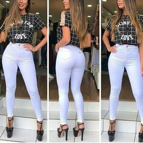 8e9303b5b Calça Jeans Branca No Atacado ( Pacote Grade com 6 Peças 36