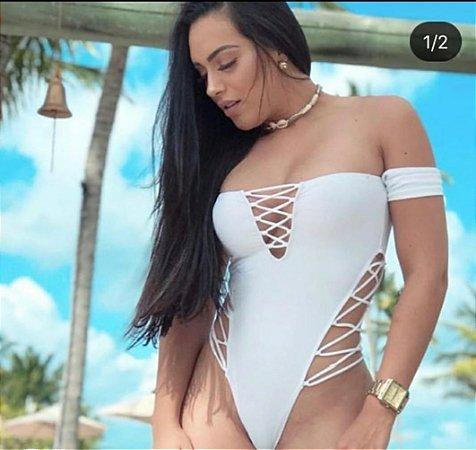 Body Feminino ciganinha, detalhe cruzado