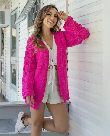 Casaco Tricot Fashion, Moda Atual 2019