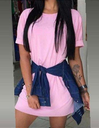 Maxi Camiseta Cores Lisas ( Tecido Viscolycra )